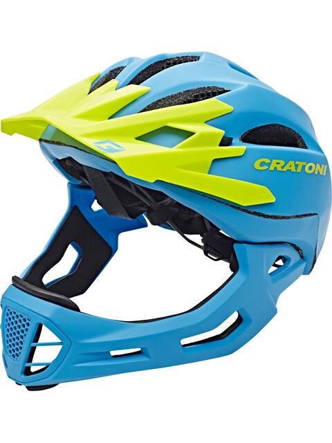 Cratoni C-Maniac Fullface Helmet blue-lime matt